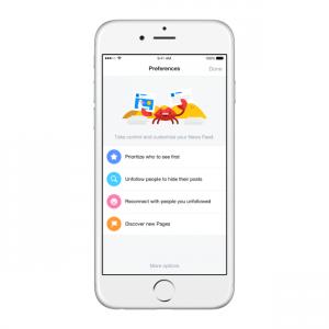 Facebook Prioriteit aangeven op iPhone