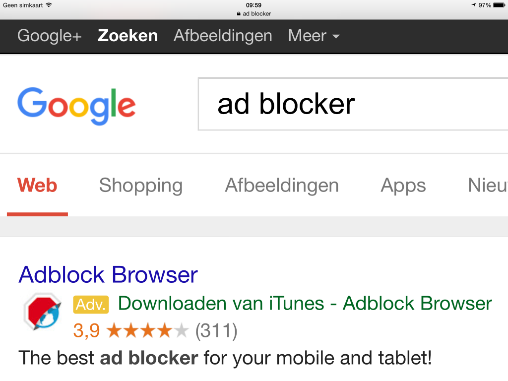 Adwords voor Adblocker