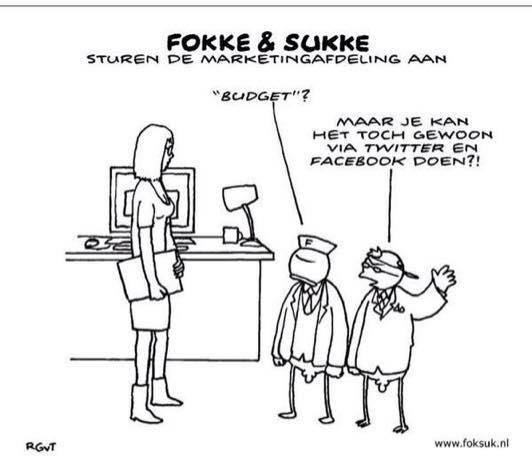 Fokke & Sukke sturen de marketing afdeling aan.