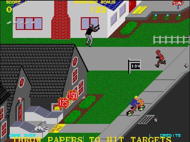 Atari Internet Arcade Paperboy