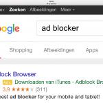 Advertentie voor Adblocker